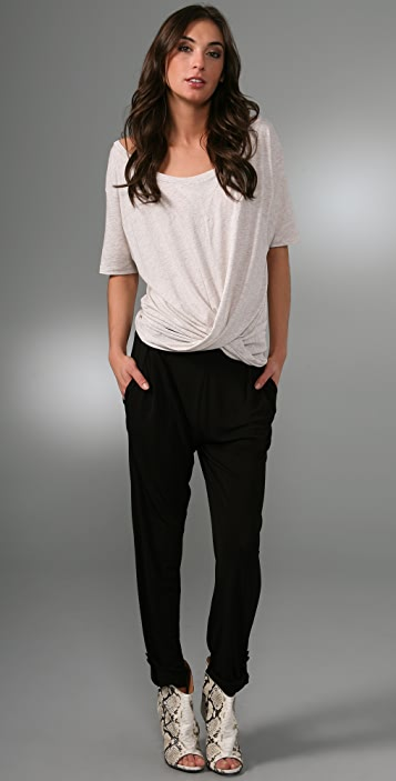 Marc by Marc Jacobs Feather Jersey Blouse