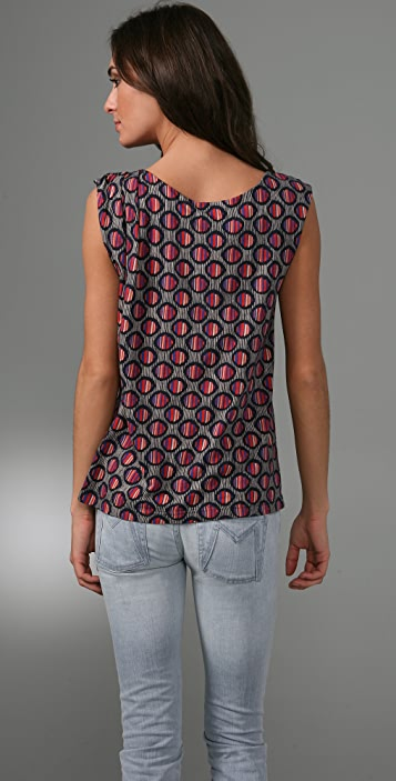 Marc by Marc Jacobs Dash Dot Print Jersey Top