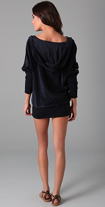 Marc by Marc Jacobs Solid Velour Hoodie Cover Up