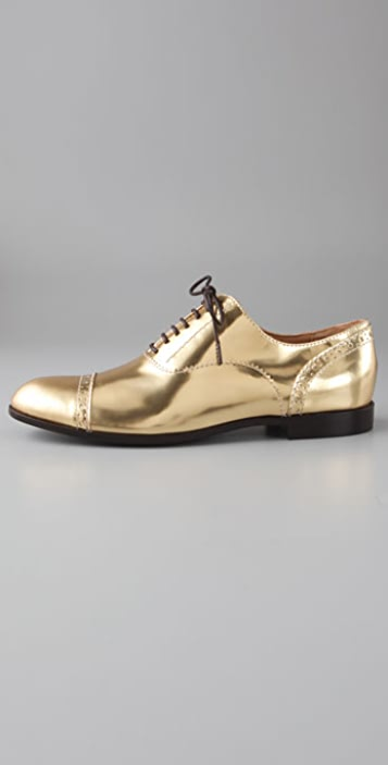Marc by Marc Jacobs Pinked & Perforated Patent Oxfords
