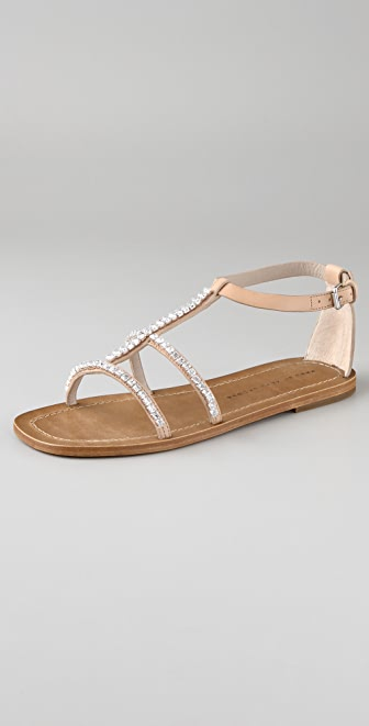 Marc by Marc Jacobs Rhinestone Flat Sandals