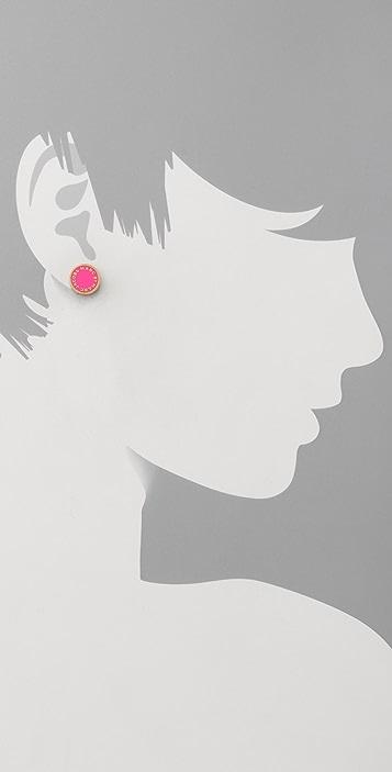 Marc by Marc Jacobs Classic Marc Enamel Logo Disc Stud Earrings