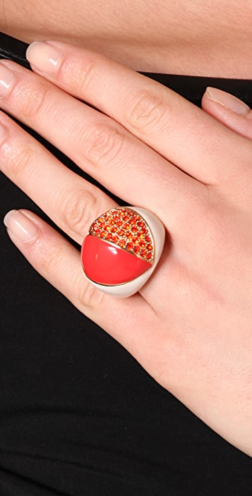 Marc by Marc Jacobs Colorblock Hearts Dome Ring