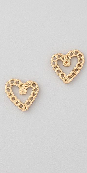 Marc by Marc Jacobs Surreal Heart Stud Earrings