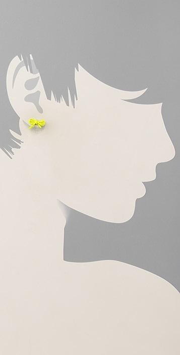 Marc by Marc Jacobs Bianca Enamel Bow Stud Earrings