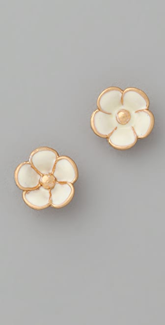 Marc by Marc Jacobs Rosa Rugosa Tiny Flower Stud Earrings