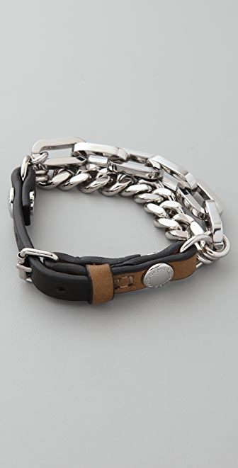 Marc by Marc Jacobs Ruth Colorblock Leather Bracelet