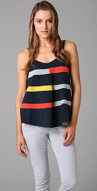 Marc by Marc Jacobs Splashed Colorblock Jersey Tank