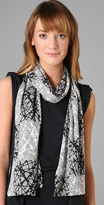 Marc by Marc Jacobs Pixel Glass Jersey Scarf