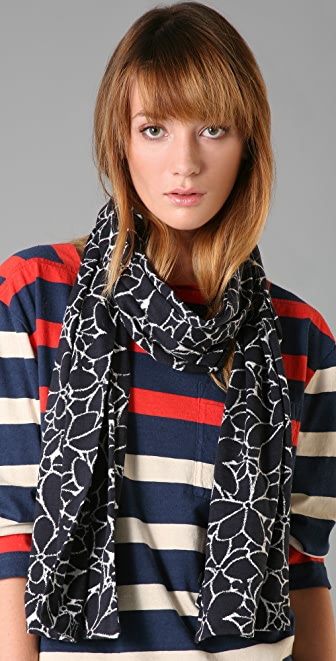 Marc by Marc Jacobs Camelia Floral Jersey Scarf