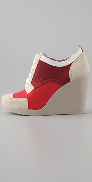 Marc by Marc Jacobs Canvas Wedge Oxfords