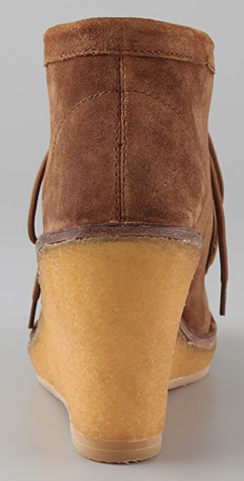 Marc by Marc Jacobs Wallabee Suede Wedge Booties