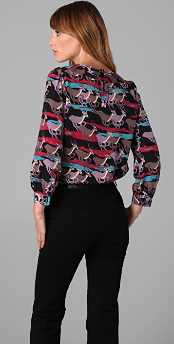 Marc by Marc Jacobs Running Impala Print Blouse