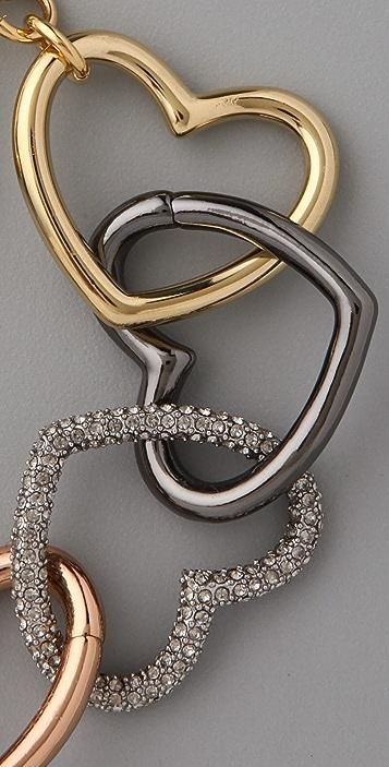Marc by Marc Jacobs Love Edge Tumbled Pave Heart Bracelet
