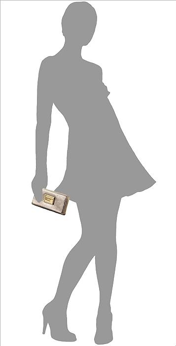 Marc by Marc Jacobs Classic Q Metallic Slim Zip Wallet