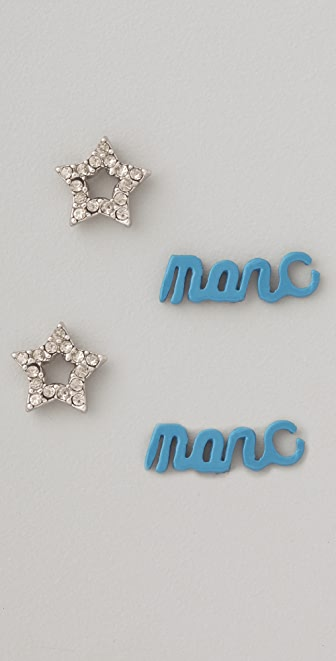Marc by Marc Jacobs Remarcable Marc Script Studs Set