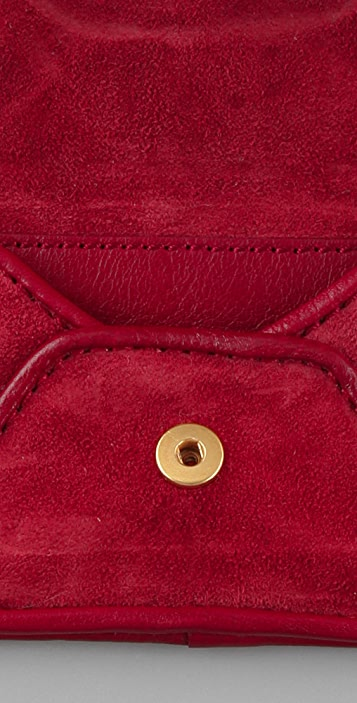 Marc by Marc Jacobs Airmail Suede Mirror Pouch with Key Ring