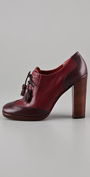 Marc by Marc Jacobs Wingtip High Heel Oxfords