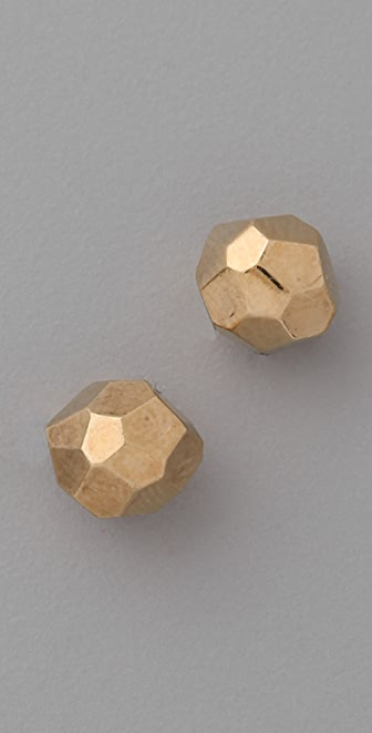 Marc by Marc Jacobs Small Faceted Stud Earrings