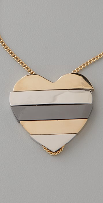 Marc by Marc Jacobs Mini Stacked Heart Pendant Necklace