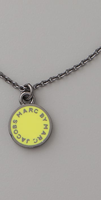 Marc by Marc Jacobs Classic Marc Logo Disc Necklace