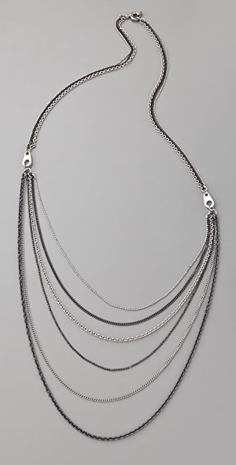 Marc by Marc Jacobs Zip It Draped Necklace