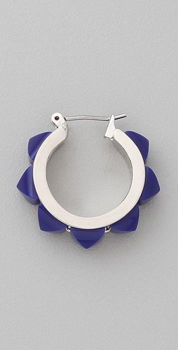Marc by Marc Jacobs Sportif Stud Hoop Earrings
