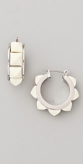 Marc by Marc Jacobs Sportif Stud Hoop Earrings