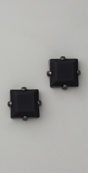Marc by Marc Jacobs Bonkers Rubber Stone Stud Earrings