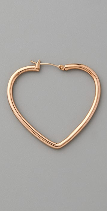 Marc by Marc Jacobs Love Edge Heart Hoops