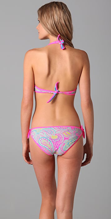 Marc by Marc Jacobs Mona Paisley Reversible Halter Bikini Top