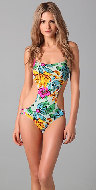 Marc by Marc Jacobs Havana Floral Cutout Maillot