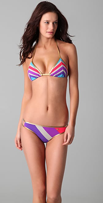 Marc by Marc Jacobs Merida Striped Triangle Bikini Top