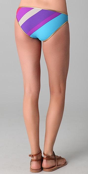 Marc by Marc Jacobs Merida Striped Cutout Bikini Bottoms