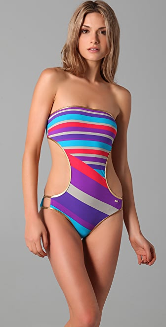 Marc by Marc Jacobs Merida Striped Bandeau Maillot