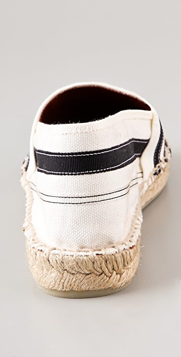 Marc by Marc Jacobs Striped Flat Espadrilles