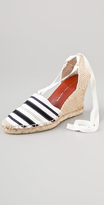 Marc by Marc Jacobs Striped Wedge Espadrilles