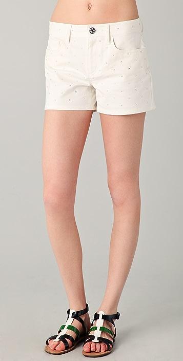 Marc by Marc Jacobs Dazzle Denim Shorts