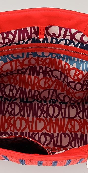 Marc by Marc Jacobs Stripey Straw Sami Tote