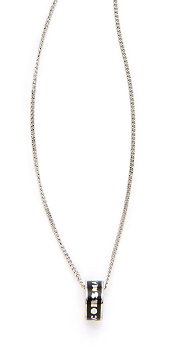 Marc by Marc Jacobs Logo Donut Pendant Necklace