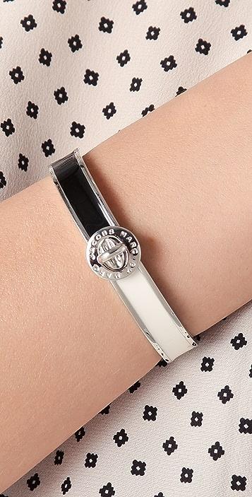 Marc by Marc Jacobs Enamel Turnlock Stripey Hinge Bracelet