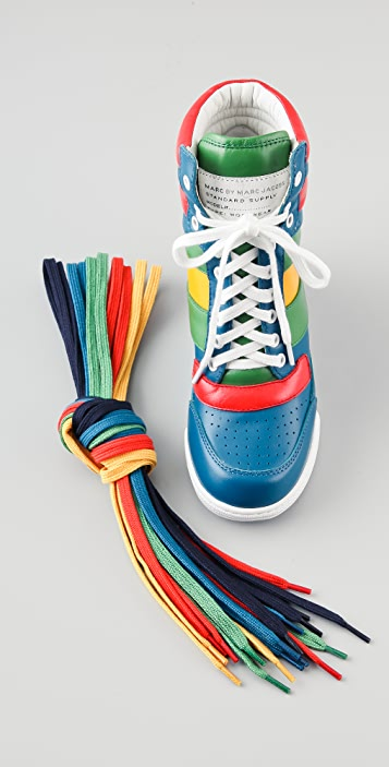Marc by Marc Jacobs Lace Up Wedge Sneakers