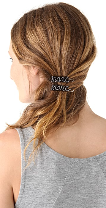Marc by Marc Jacobs Marc Script Hairclip Set