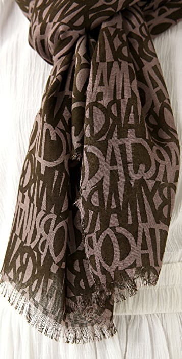 Marc by Marc Jacobs Linear Logo Scarf