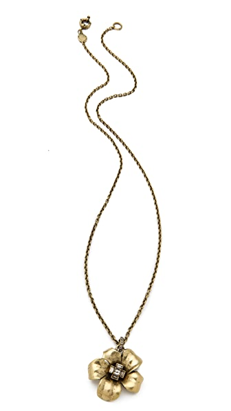 Marc by Marc Jacobs Marc Flowers Long Flower Pendant Necklace