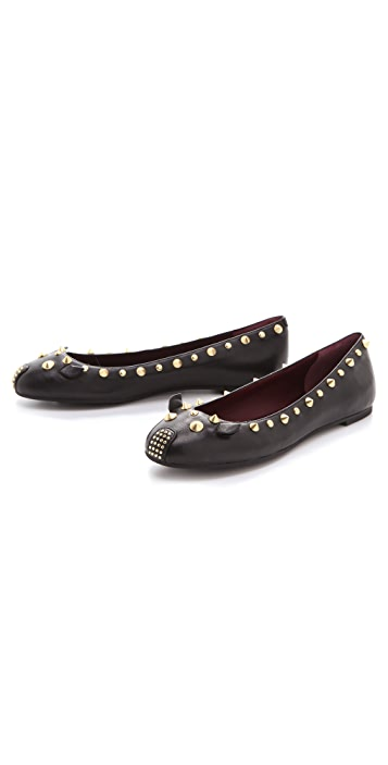 Marc by Marc Jacobs Studded Mouse Flats