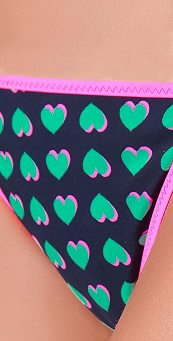 Marc by Marc Jacobs Light Hearted Reversible Euro String Bikini Bottoms