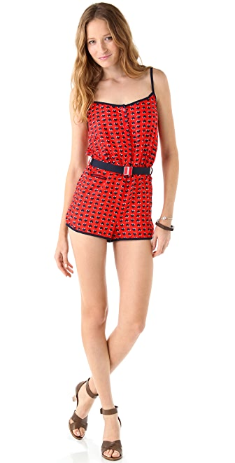 Marc by Marc Jacobs Light Hearted Button Front Romper