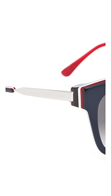 Marc by Marc Jacobs Triple Laminate Sunglasses