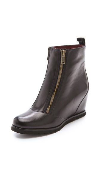 Marc by Marc Jacobs Double Zip Wedge Booties